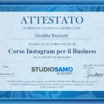 Attestato Esecuzione Corso Online - Instagram per Il Business