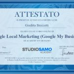 Attestato Esecuzione Corso Online - Google Local Marketing
