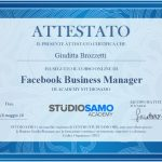Attestato Esecuzione Corso Online - Facebook Business Manager